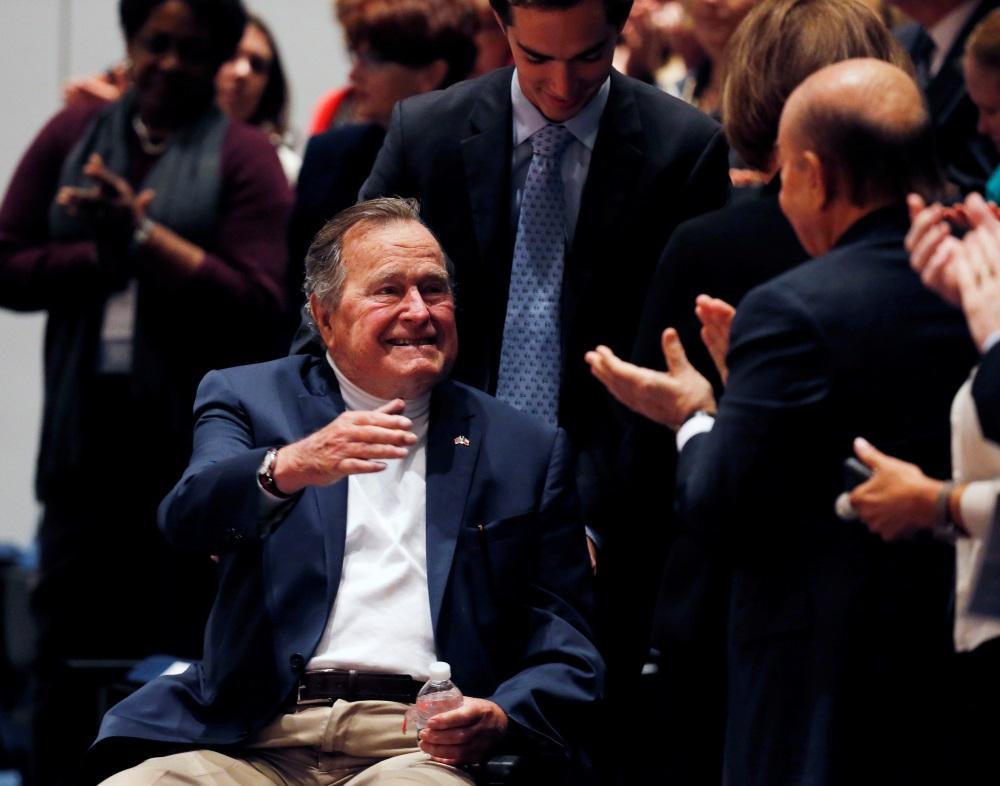 ASV eksprezidents Džordžs Bušs vecākais hospitalizēts, 27.05.2018.