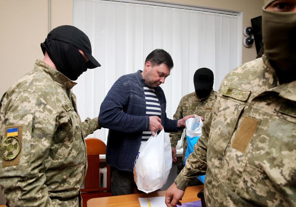 """Krievijas valsts ziņu aģentūras """"RIA Novosti"""" Kijevas biroja vadītājam Kirilam Višinskim piemēro apcietinājumu, 17.05.2018"""