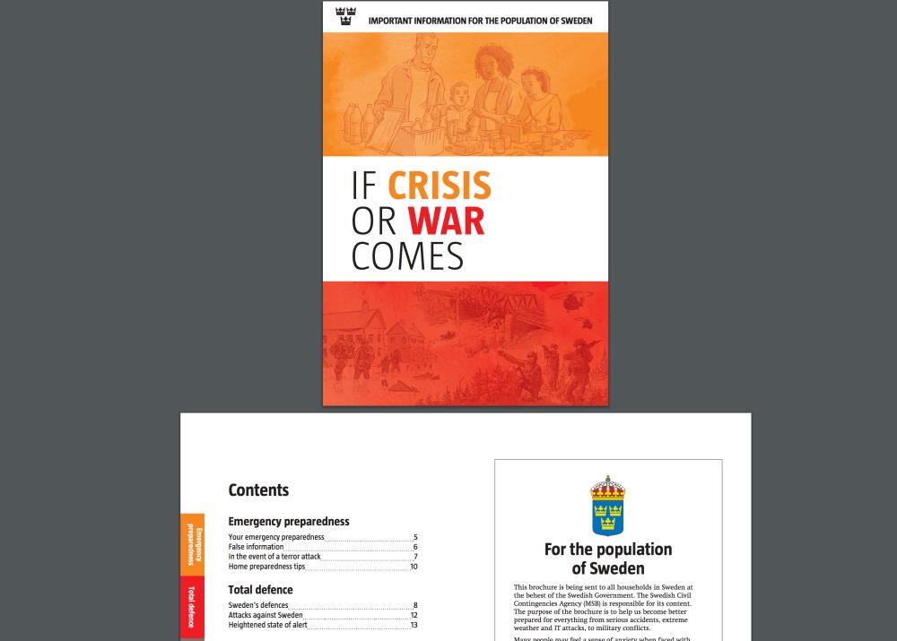 Zviedrijas valdības brošūra, kuru izsūtīs pilsoņiem, 21.05.2018.