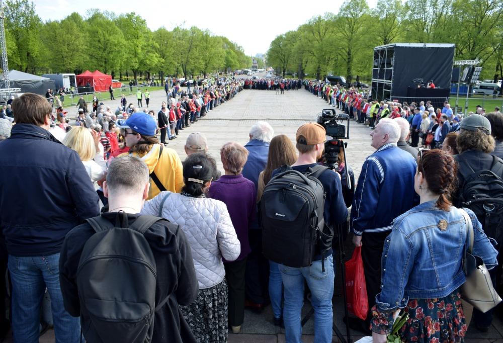 Rīgā, Uzvaras parkā svinības, 09.05.2018.