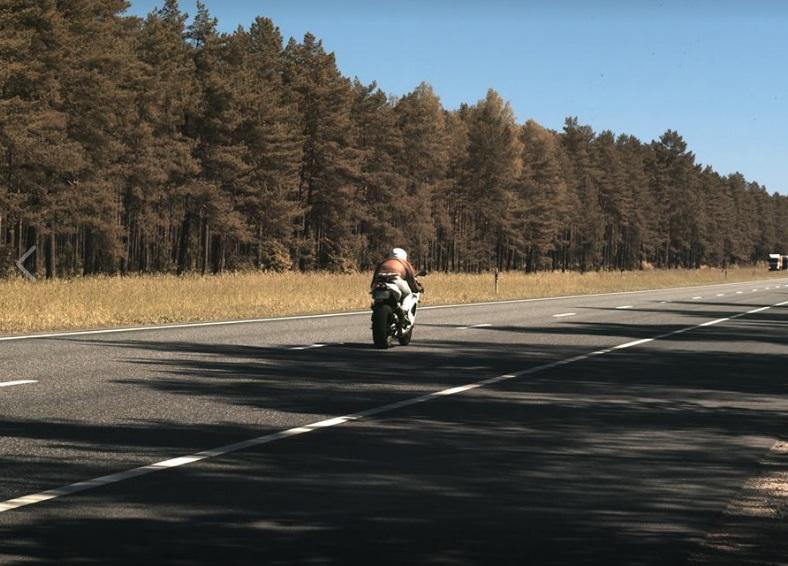 Policija pieķert motociklistu, kas traucas ar 199 km/h, 28.05.2018.