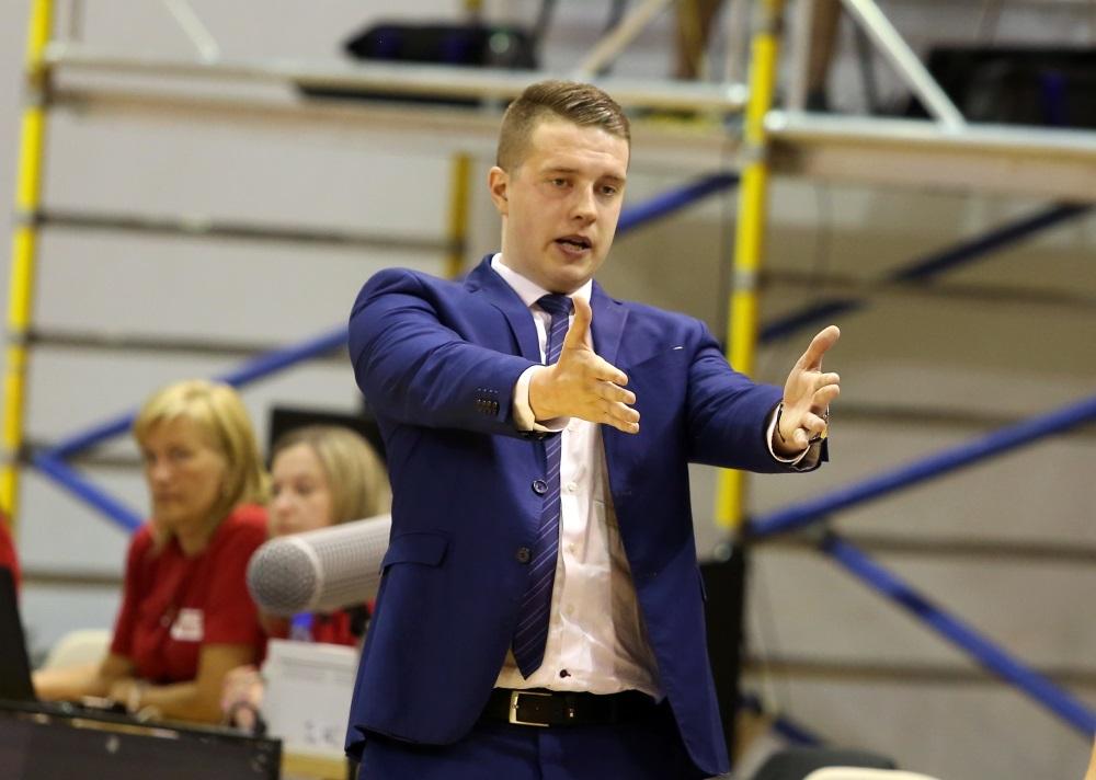 """Mārtiņš Gulbis, BK """"Jūrmala"""" galvenais treneris."""