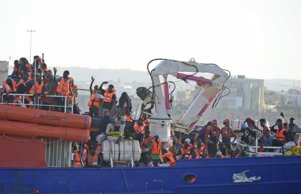 Maltā piestāj kuģis ar migrantiem, 27.06.2018.