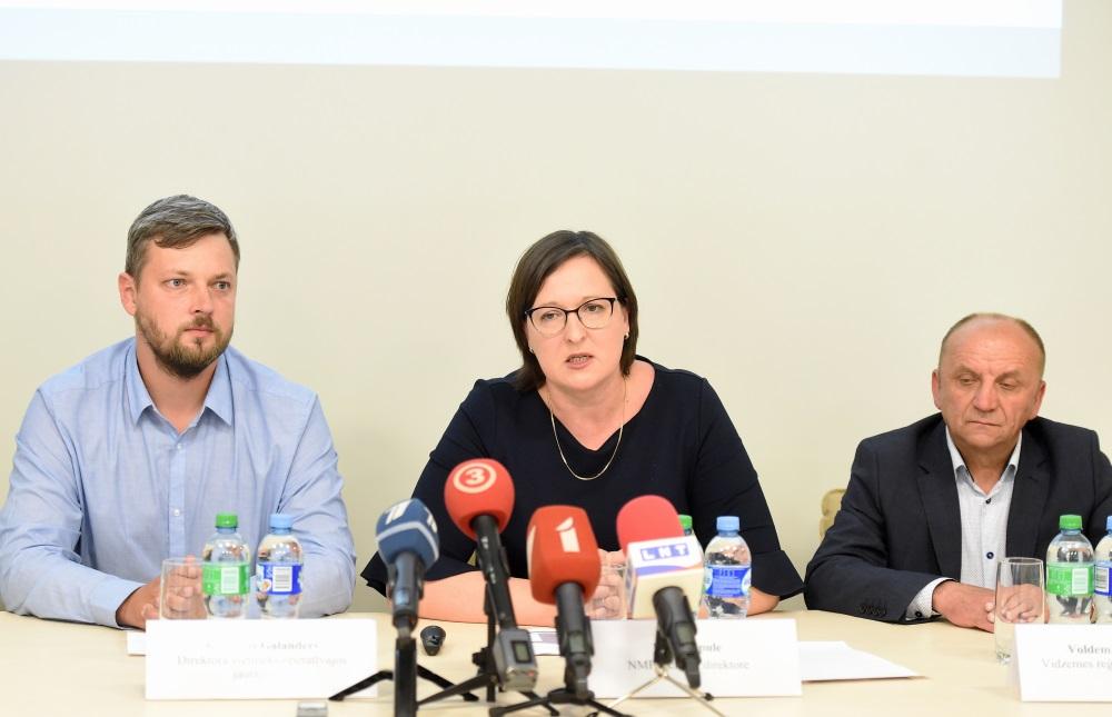 NMPD vadītāja Liene Cipule preses konferencē, 20.06.2018.