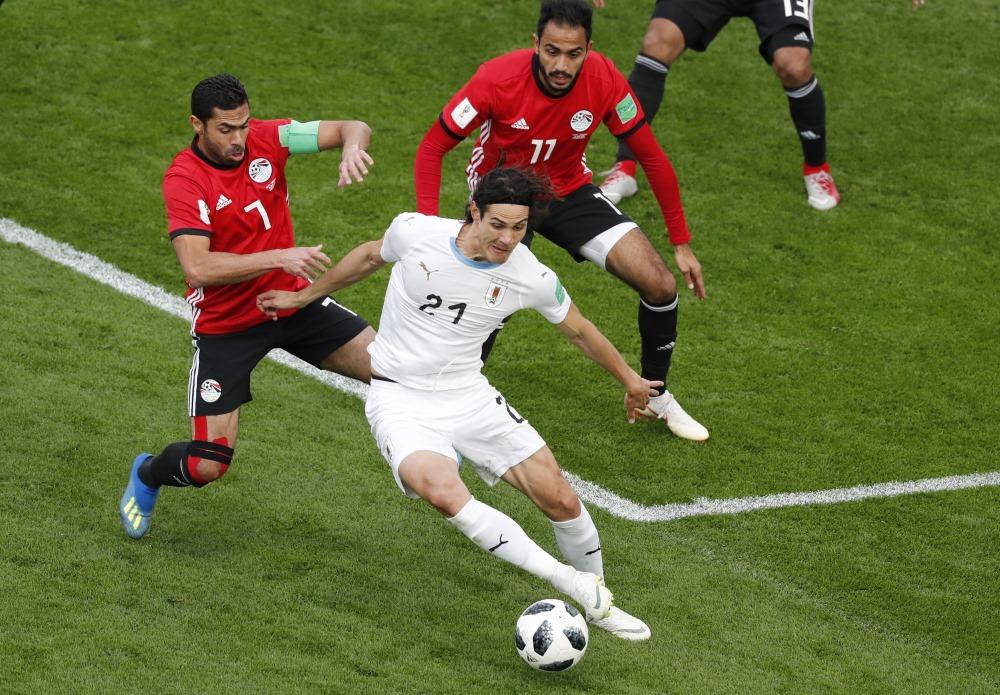 Ēģiptes mačs pret Uragvaju Pasaules futbola čempionātā Krievijā, 15.06.2018.