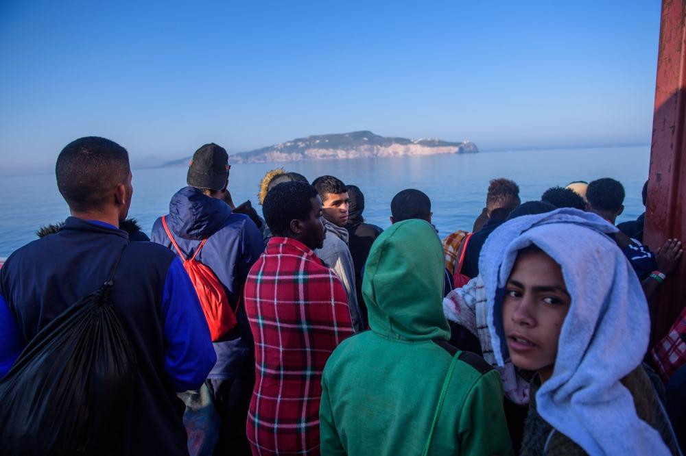 Bēgļi Itālijas ostā Sicīlijā, 2018. Ilustratīvs attēls