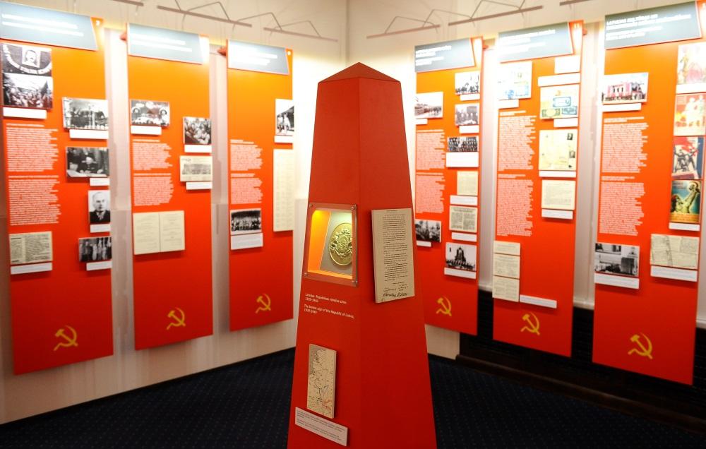 Arhīva foto. Latvijas Okupācijas muzeja ekspozīcija.