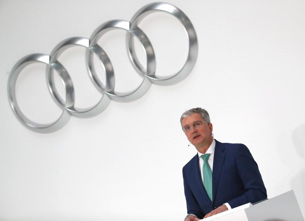 """Vācijas autobūves koncerna """"Volkswagen"""" struktūrvienības """"Audi"""" vadītājs Ruperts Štadlers, 2018."""