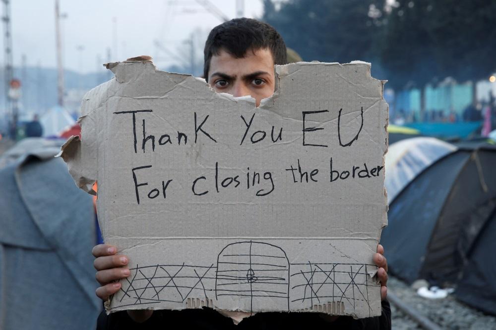 Bēglis uz Grieķijas un Maķedonijas robežas, 06.06.2018.
