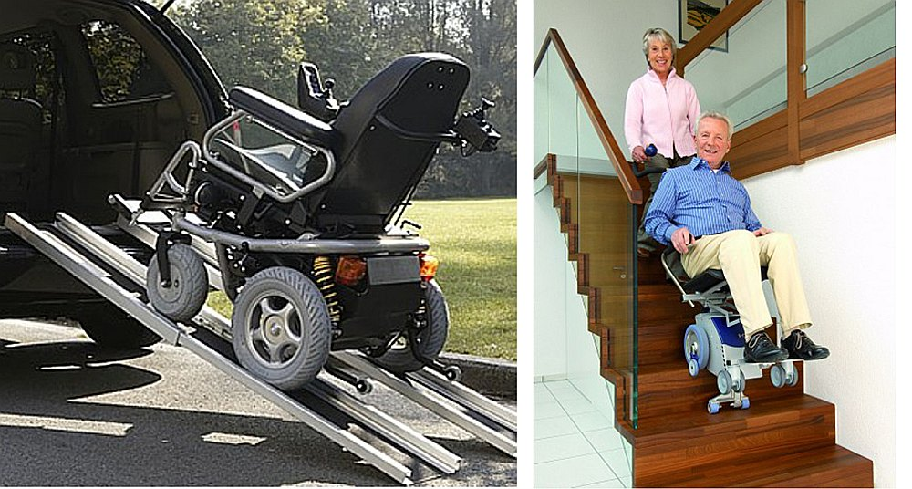 Pacēlājs-kāpņu kāpējs piemērots gandrīz visiem invalīdu ratiņkrēsliem, ar pavadoņa palīdzību vadāms augšup un lejup.