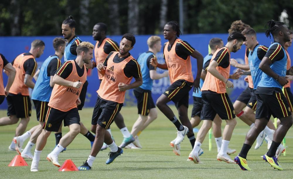 Beļģijas futbola izlases treniņš, 13.07.0218.