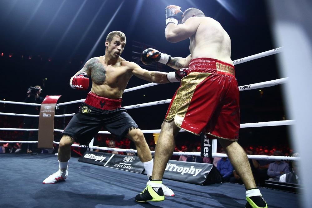 Mairis Briedis boksa cīņā ar francūzi Brandonu Delorjē Maskavā, 21.07.2018
