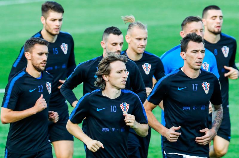 Horvātijas futbola izlase treniņā