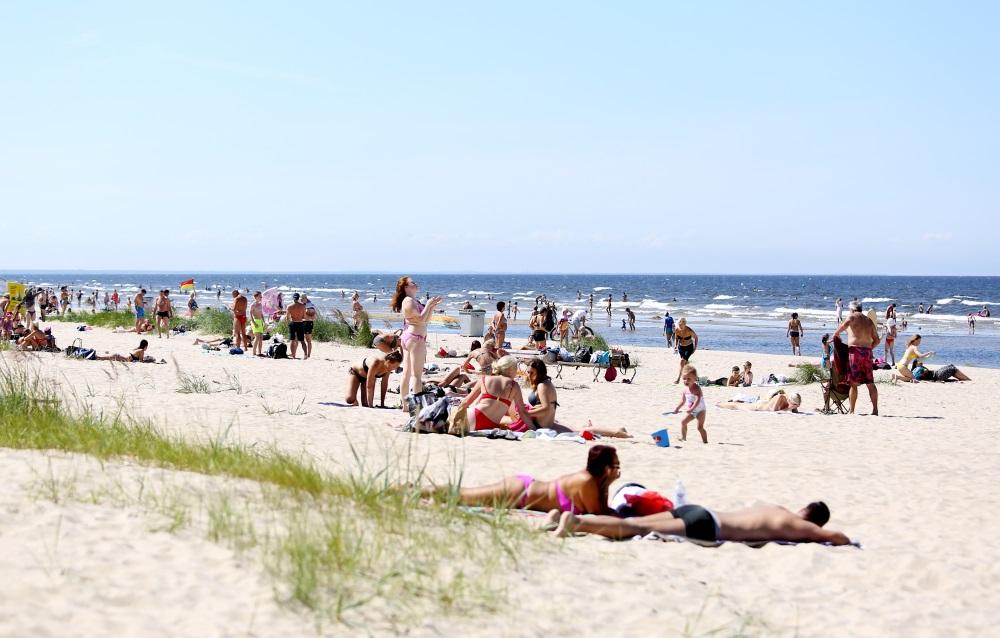 Jūrmalas pludmale, Arhīva foto.