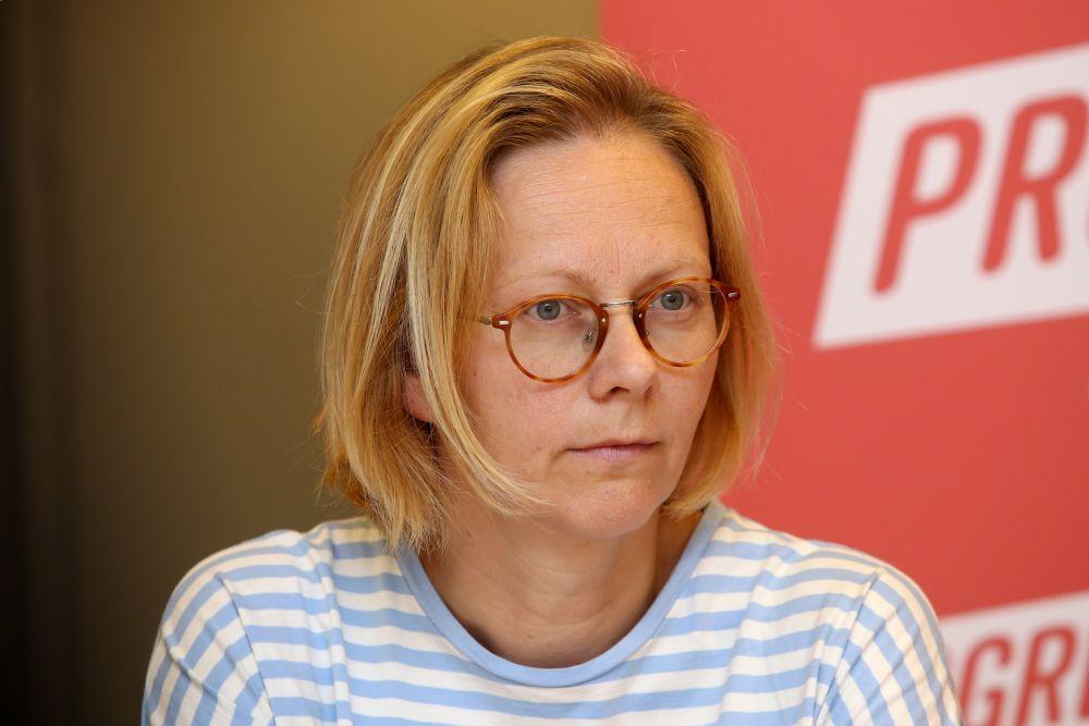 """Politiskās partijas """"Progresīvie"""" tieslietu un iekšlietu ministra amata kandidāte, juriste, feministe Dace Kavasa"""