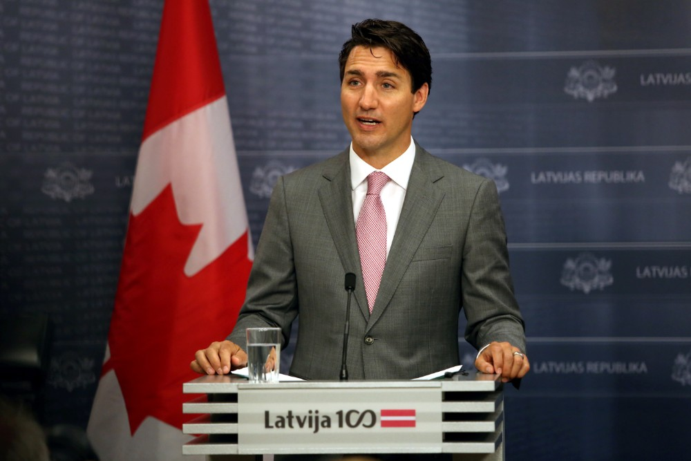 Kanādas valdības vadītājs Džastins Trudo