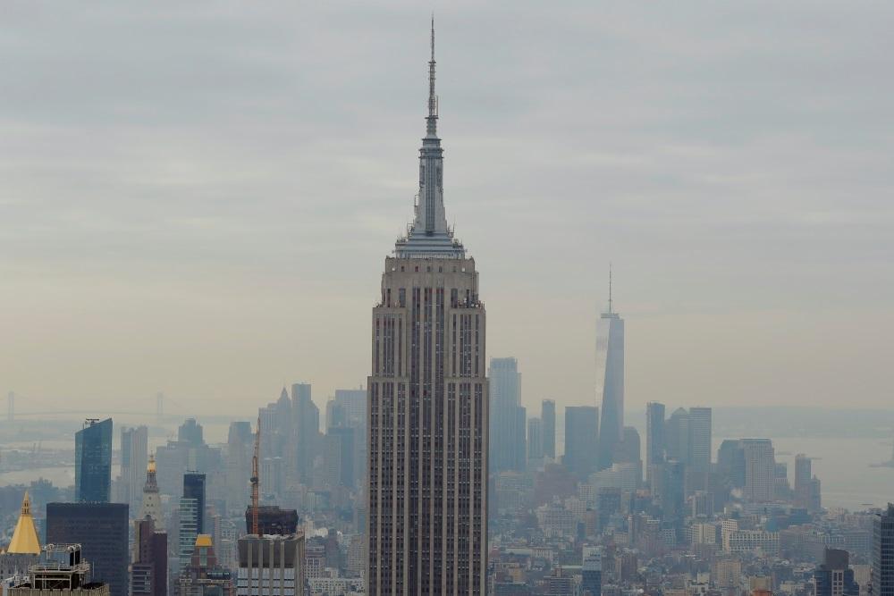 """""""Empire State Building"""" debesskārpis Ņujorkā, ASV, 2018."""