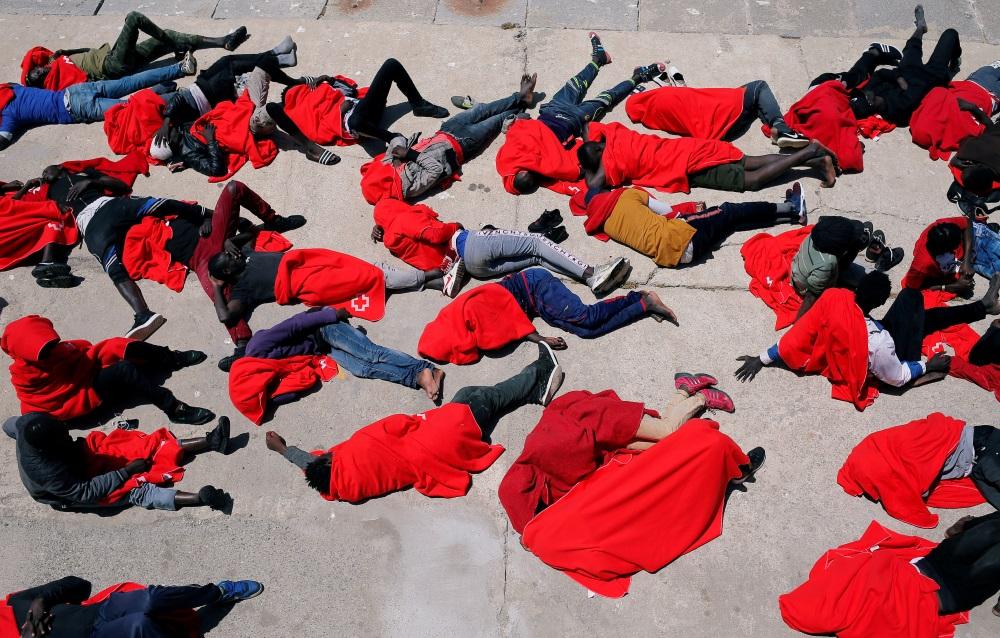 Patvēruma meklētāji Spānijā, Tarifā pie Gibraltāra, 24.07.2018.