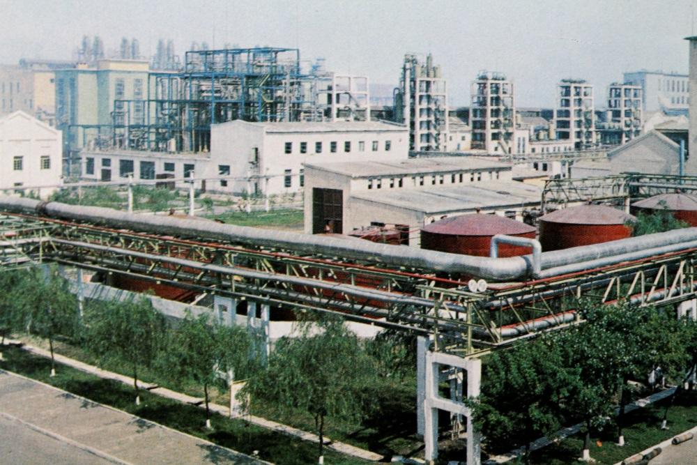 Arhīva foto. Rūpnīca Ziemeļkorejā.