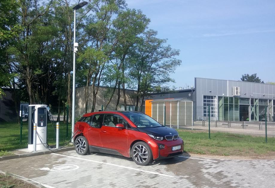 Elektromobiļu uzlādes stacija Daugavpilī