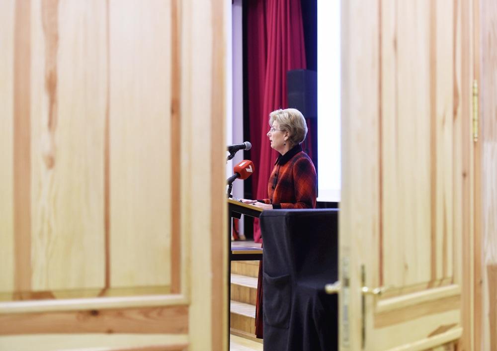 """""""No sirds Latvijai"""" valdes priekšsēdētāja Inguna Sudraba."""