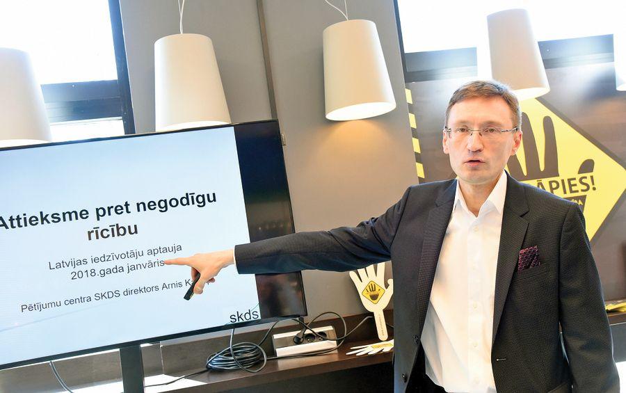 Sabiedriskās domas pētījumu centra SKDS direktors Arnis Kaktiņš