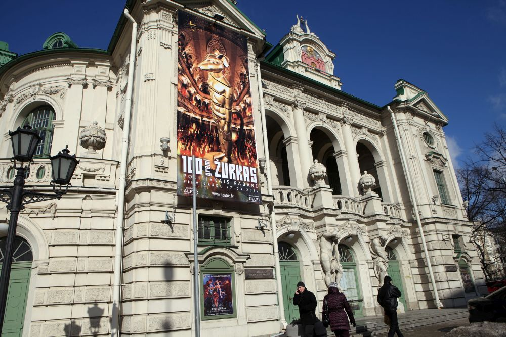 Latvijas Nacionālā teātra ēka mūsdienās, pirms 100 gadiem te atradās Rīgas 2. pilsētas teātris.