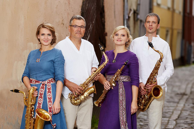 Rīgas Saksofonu kvartets.