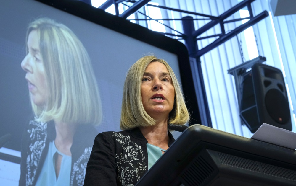 Eiropas Savienības augstā ārlietu pārstāve Federika Mogerīni, 03.09.2018.