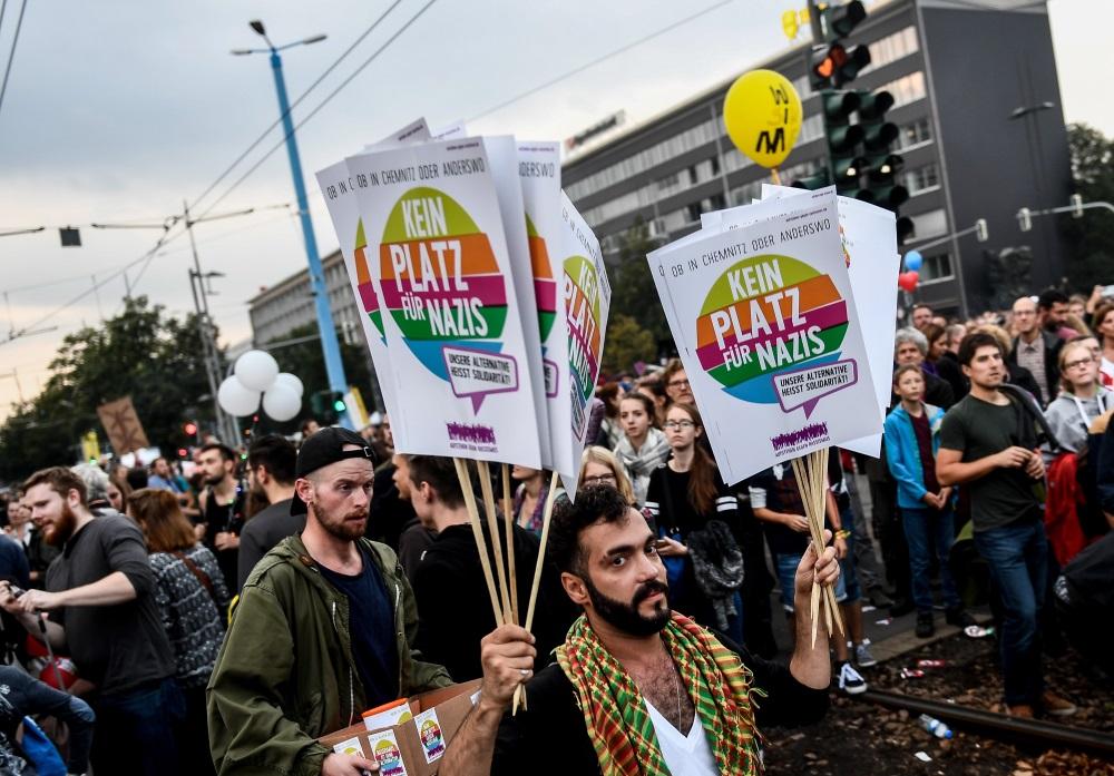Protesta koncerts Kemnicā, Vācijā, 04.09.2018.