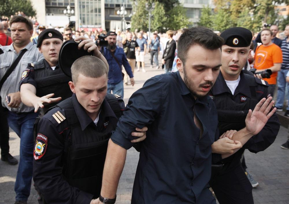 Protesti Krievijā, Maskavā pret pensiju reformu, 09.09.2018.