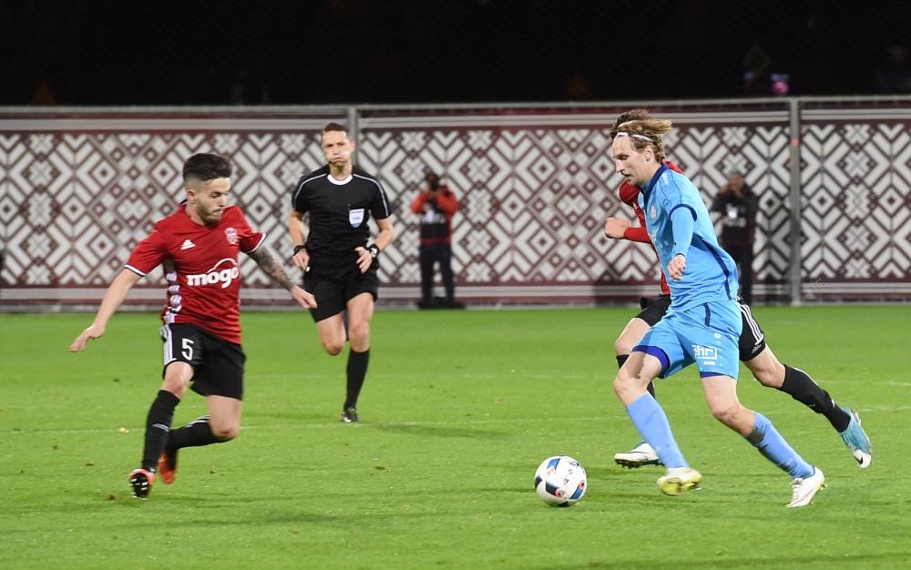 """Latvijas kausa izcīņas fināla spēle futbolā starp FK """"Liepāja/Mogo"""" un FK """"Riga"""". Arhīva foto."""
