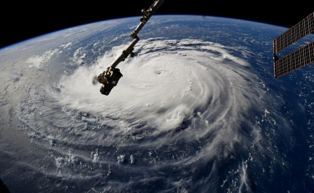 """ASV tuvojas ļoti spēcīga, iespējams, katastrofālākā viesuļvētra """"Florensa"""" pēdējo gadu laikā, 11.09.2018."""