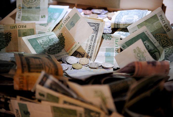 Ziedojumu urna ar naudu Latvijas Okupācijas muzejā.