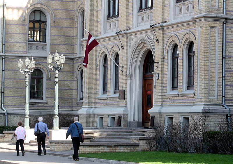 Latvijas Universitātes ēka.