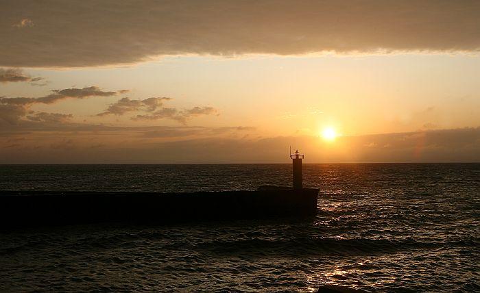 Saullēkts Roņu salā.