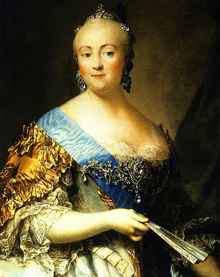 Krievijas imperatore Elizabete – Pētera I un Katrīnas I meita. V. Eriksena glezna.