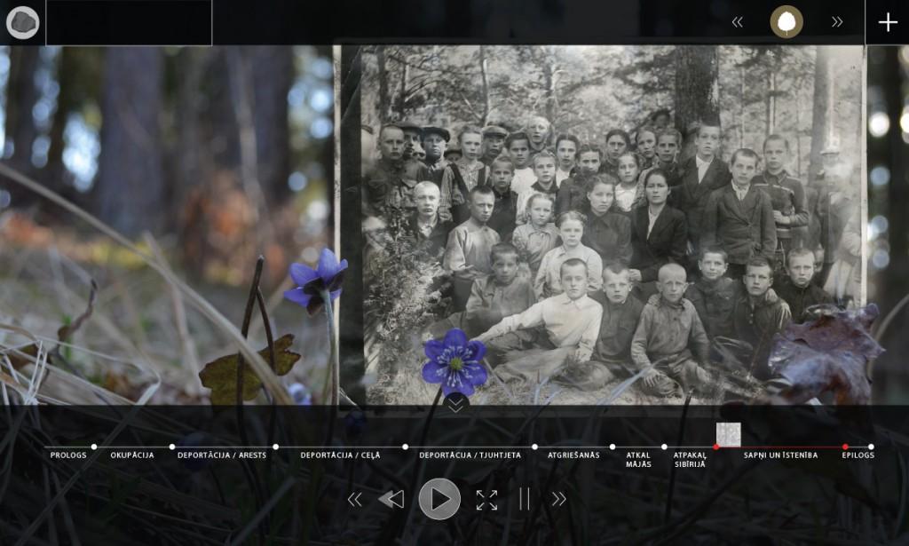 Zinta Butāna fona foto un kolāža, Montas Apsānes interfeisa dizains