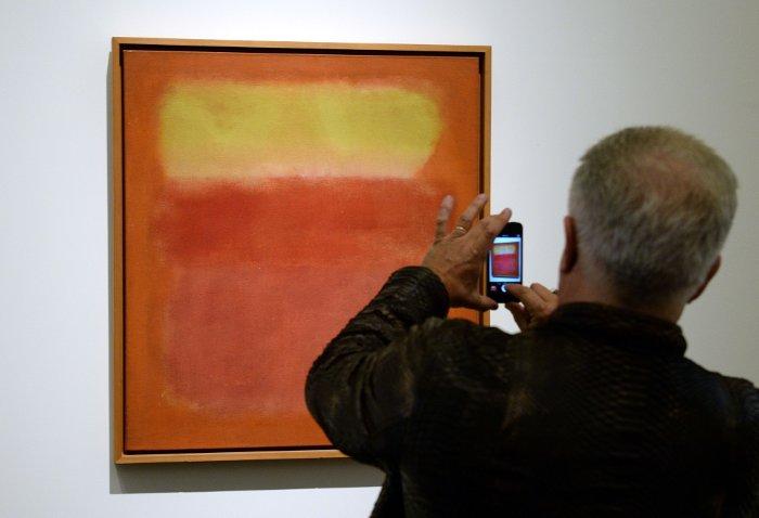 """Rotko glezna """"Bez nosaukuma"""" Ņujorkas """"Sotbija"""" izsolē pārdota par 36,5 miljoniem dolāru."""