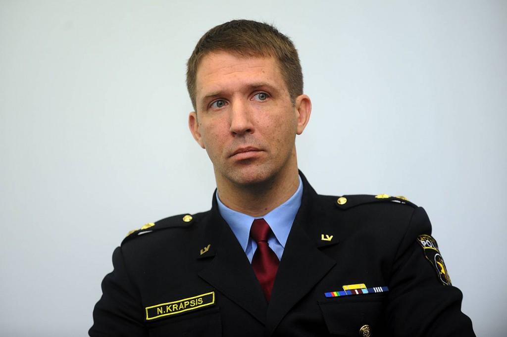 Valsts policijas Galvenās kārtības policijas pārvaldes Satiksmes drošības pārvaldes priekšnieks NORMUNDS KRAPSIS.