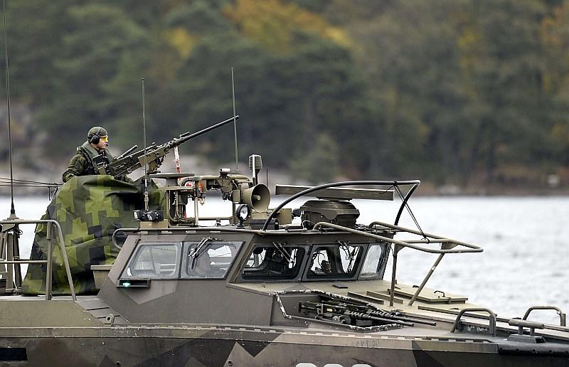 Attēlā: Zviedrijas jūras spēku patruļkuģis pie Stokholmas arhipelāga. Ilustratīvs attēls