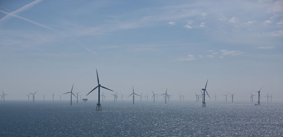 Vēja parks Vācijā. Ilustratīvs attēls