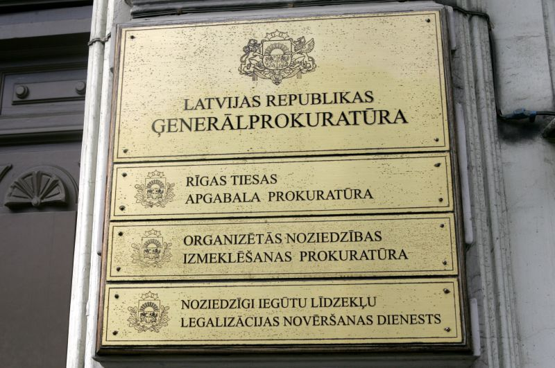 Izkārtne pie ēkas, kurā atrodas Generālprokuratūra.
