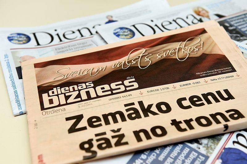 """Laikraksts """"Dienas bizness"""" un """"Diena""""."""