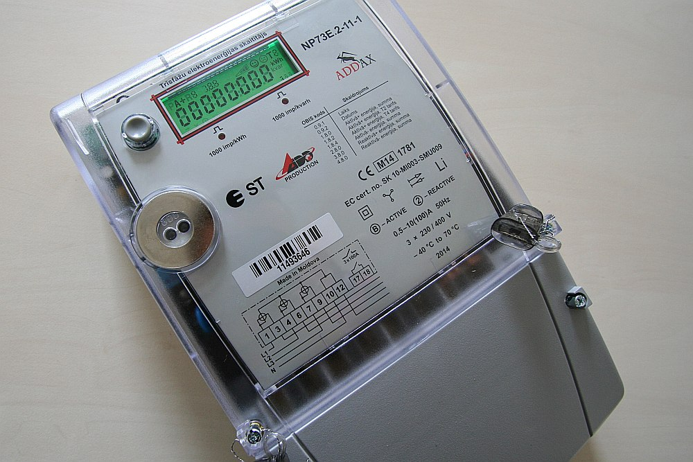 Viedais skaitītājs sniedz klientam pārskatu par elektrības patēriņu pa stundām.