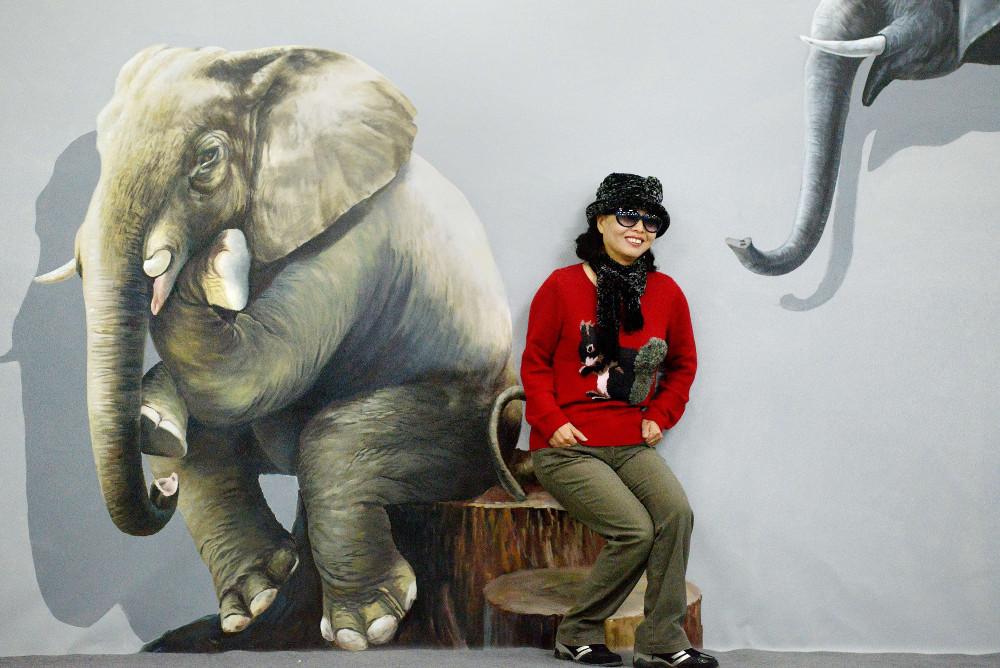 """3D gleznas paraugs  izstādē """"Magic Art Special"""" Pekinā."""