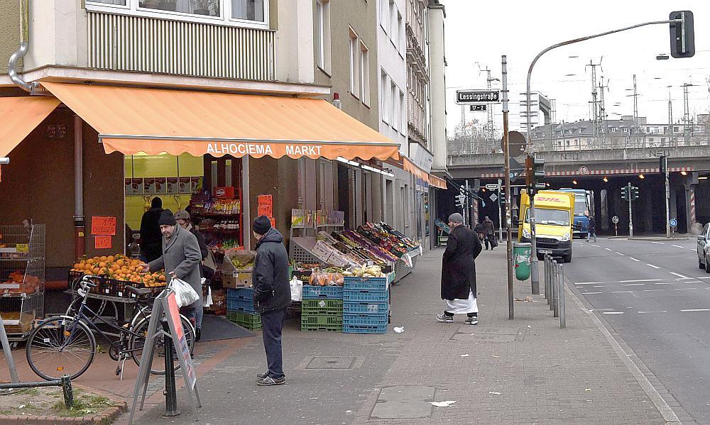 Oberbilkas rajons Diseldorfā, kur Vācijā dzīvo visvairāk alžīriešu un marokāņu.