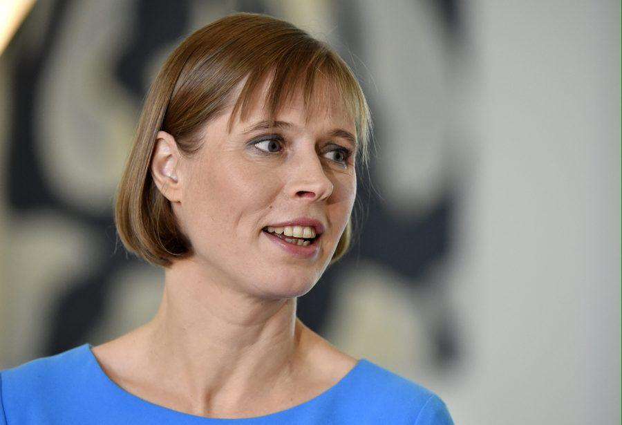 Igaunijas prezidente Kersti Kaljulaida.