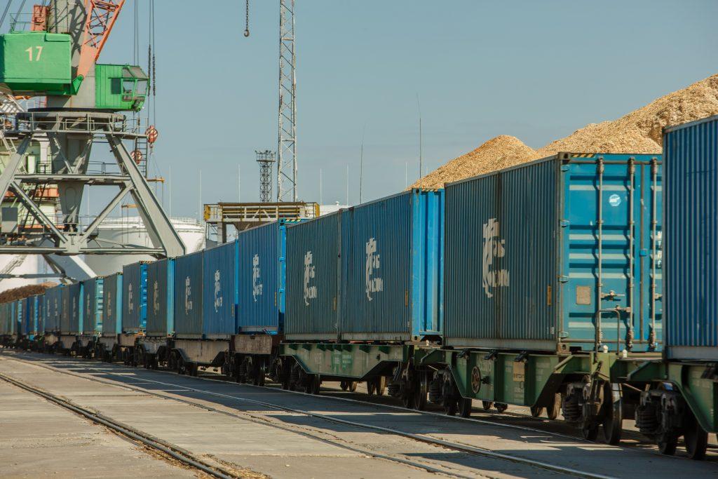Rīgas Universālajā terminālī preču vilciena maršruta Rīga- Ķīna atklāšanas pasākums.