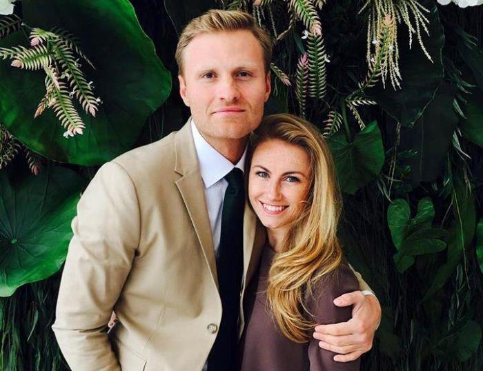 Renārs Zeltiņš kopā ar mīļoto sievu Ievu.